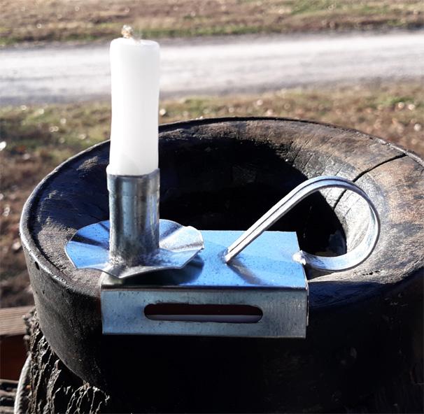 small matchbox candlestick holder